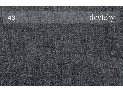 Tmavě šedá čalouněná trojmístná pohovka DEVICHY Chloe 234 cm