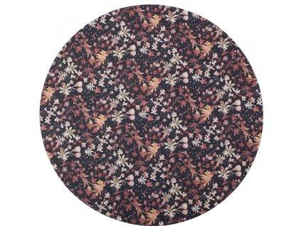 Pestrobarevný koberec Raden s potiskem květin 200 cm