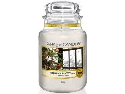 Velká vonná svíčka Yankee Candle Surprise Snowfall