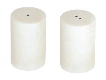 Bílý mramorový set slánky a pepřenky LaForma Claria