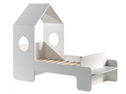 Bílá dřevěná dětská postel Vipack Casami 70 x 140 cm