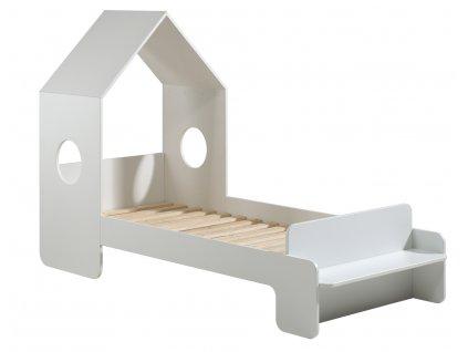 Bílá dřevěná dětská postel Vipack Casami 90 x 200 cm