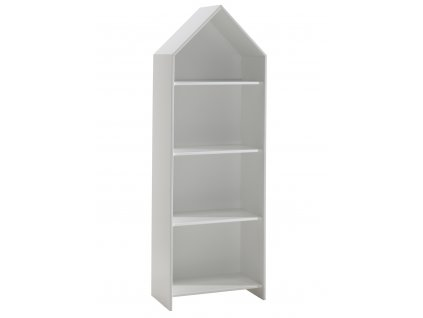 Bílá dřevěná knihovna Vipack Casami 171 cm
