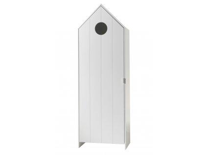 Bílá dřevěná šatní skříň Vipack Casami 171 cm