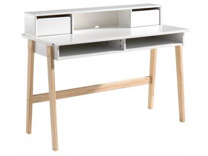 Bílý dřevěný psací stůl Vipack Kiddy 60 x 110 cm