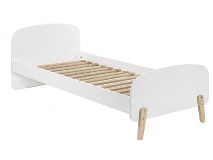 Bílá dřevěná dětská postel Vipack Kiddy 90x200 cm