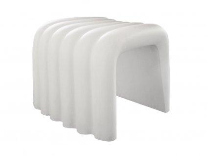 Bílá plastová lavice RIVER SNAKE