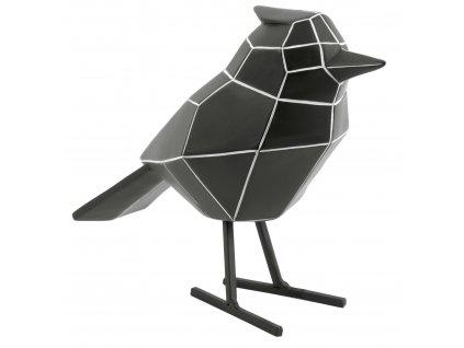 Černá dekorace Birdie Stripes L