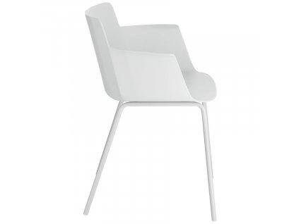 Šedá plastová jídelní židle LaForma Hannia s područkami