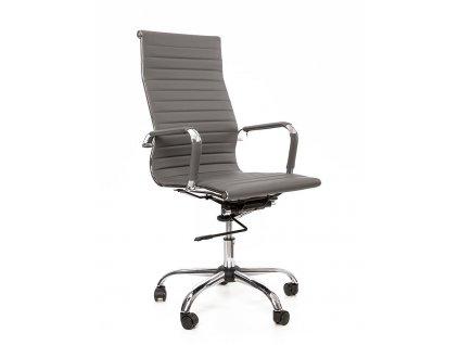 Šedá čalouněná kancelářská židle Top Line