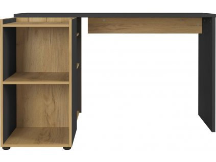 Grafitově černý pracovní stůl GW-Austin 129x107 cm