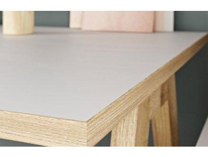 Bílý pracovní stůl GW-Helsinki 160x80 cm