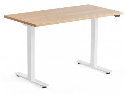 Dubový výškově nastavitelný pracovní stůl FormWood Barry