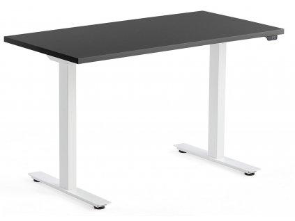Černý výškově nastavitelný pracovní stůl Barry 120 x 60 cm