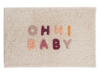 Béžová bavlněná koupelnová předložka LaForma Nandi Ohh! Baby 40 x 60 cm