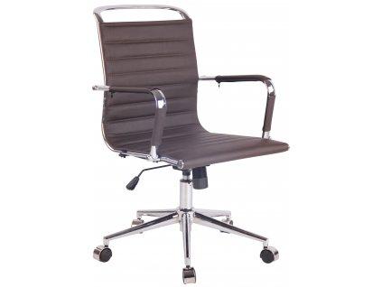 Tmavě hnědá čalouněná kancelářská židle Lexus II.