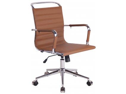 Hnědá čalouněná kancelářská židle Lexus II.