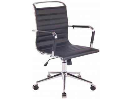 Černá čalouněná kancelářská židle Lexus II.