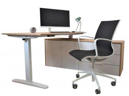 Dubový kancelářský stůl FormWood Aro 160,5x155 cm