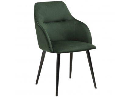 Zelená sametová jídelní židle DanForm Urban