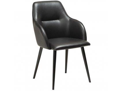 Černá koženková jídelní židle DanForm Urban
