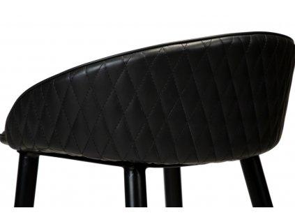 Černá koženková vintage barová židle DanForm Dual 76 cm