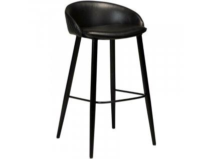 Černá koženková barová židle DanForm Dual 76 cm