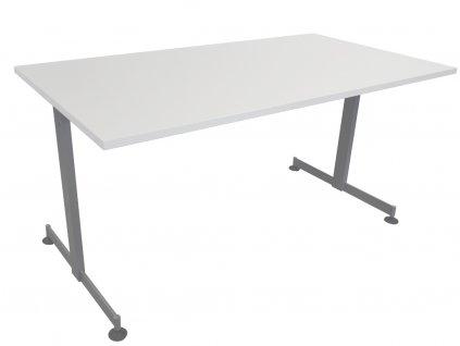 Bílý kancelářský stůl FormWood Larra 130 x 80 cm