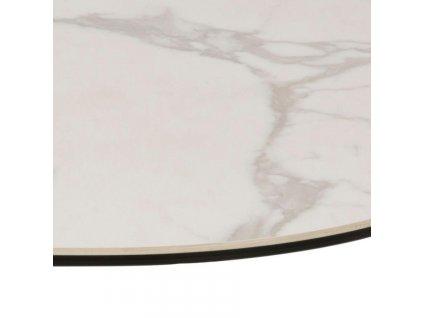 Bílý skleněný konferenční stolek Barnsby 84 x 77 cm