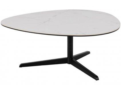 Bílý skleněný konferenční stolek Barnsby 100 x 95 cm