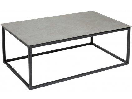 Šedý keramický konferenční stolek Batik 100 x 60 cm