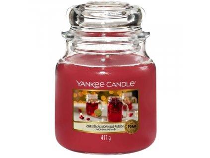 Střední vonná svíčka Yankee Candle Christmas Morning Punch