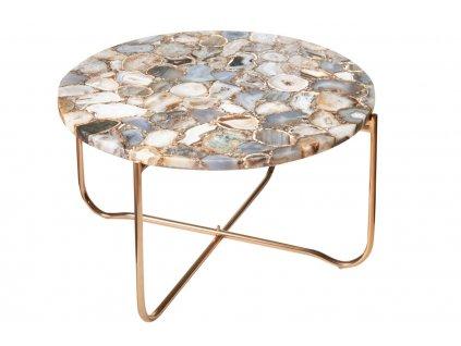 Achátový konferenční stolek Linex 62 cm