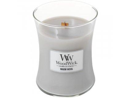 Střední vonná svíčka Woodwick, Warm Wool