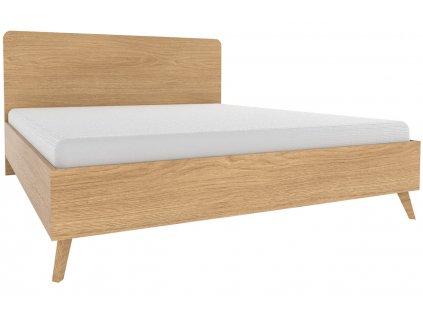 Dubová postel Thia 180 x 200 cm