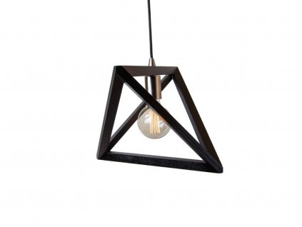Černé dřevěné závěsné svítidlo Libre