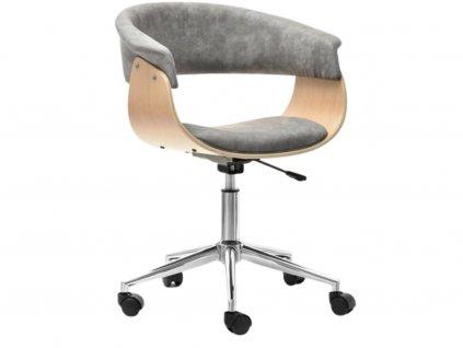 Šedá dubová kancelářská židle Rapido II.
