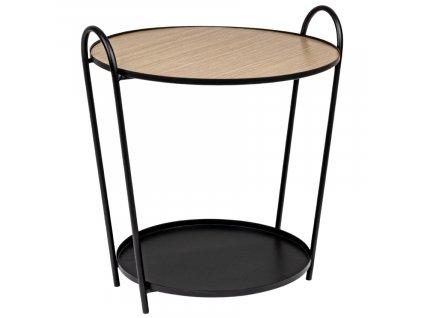 Černý kovový kulatý konferenční stolek Bizzotto Everite 57 cm