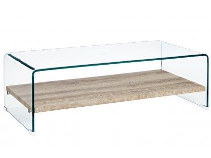 Skleněný konferenční stolek Bizzotto Kenial 110 X 55 cm