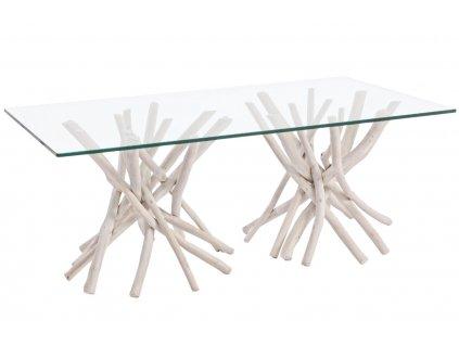 Skleněný konferenční stolek Bizzotto Sahel 110 x 60 cm
