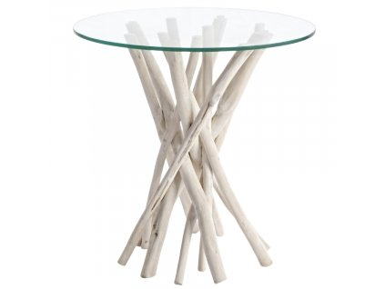 Skleněný odkládací stolek Bizzotto Sahel 40 cm