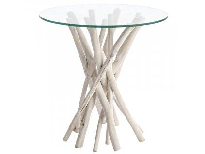 Skleněný odkládací stolek Bizzotto Saneli 40 cm