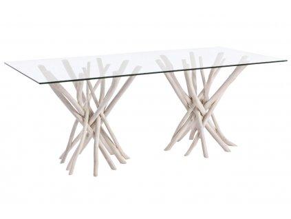 Skleněný jídelní stůl Bizzotto Sahel 200 x 100 cm