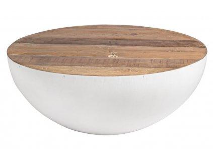Bílý dřevěný konferenční stolek Bizzotto Lenkast 90 cm