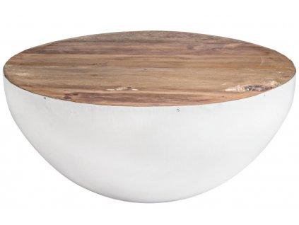 Bílý dřevěný konferenční stolek Bizzotto Lancaster 70 cm