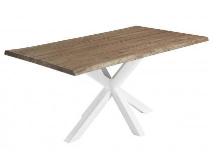 Dubový jídelní stůl LaForma Arya 180 x 100 cm s kovovou podnoží