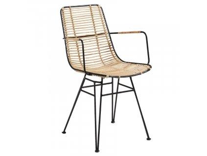 Ratanová židle LaForma Ashanti s černou podnoží