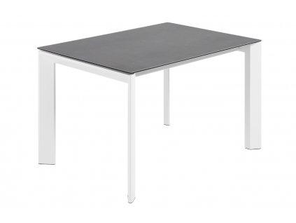 Antracitově šedý porcelánový rozkládací jídelní stůl LaForma Atta II. 140/200 x 90 cm
