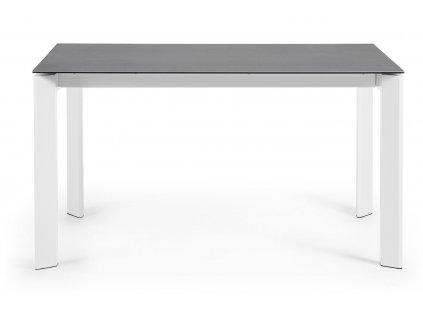 Antracitově šedý porcelánový rozkládací jídelní stůl LaForma Atta 140/200x90 cm
