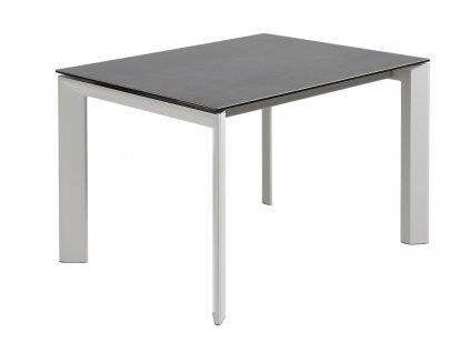 Antracitově černý porcelánový rozkládací jídelní stůl LaForma Atta 140/200x90 cm